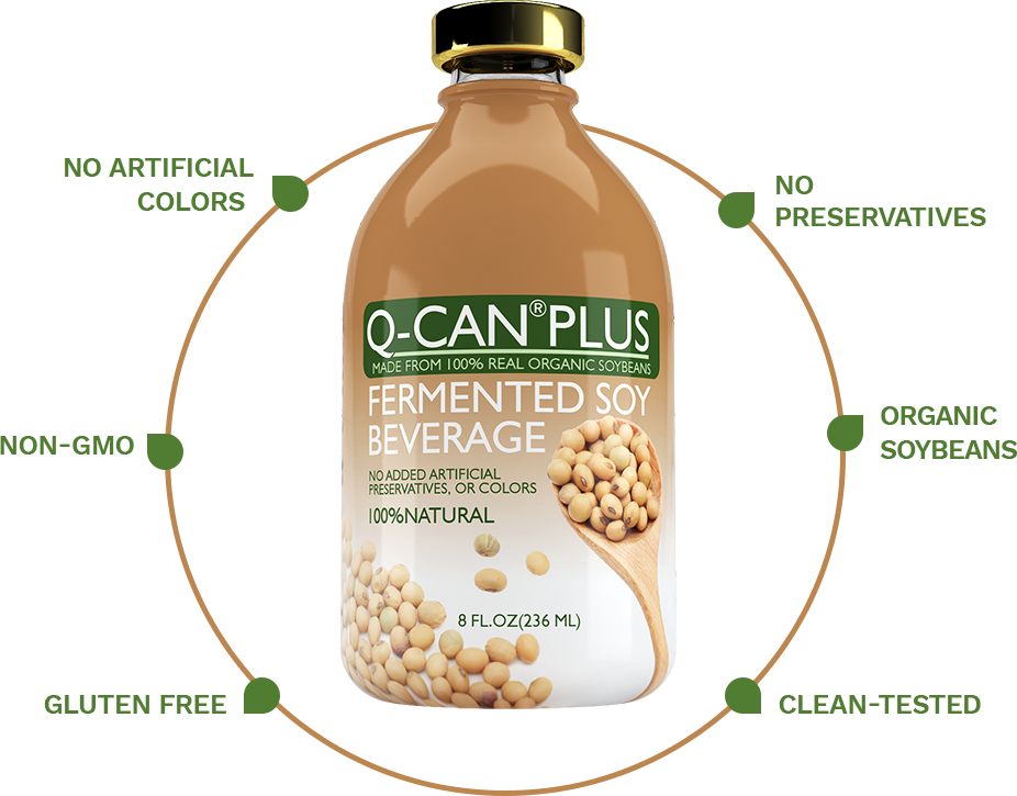 No artificial colors, No preservatives, Non-GMO, Organic soybeans, Gluten free, Clean-tested